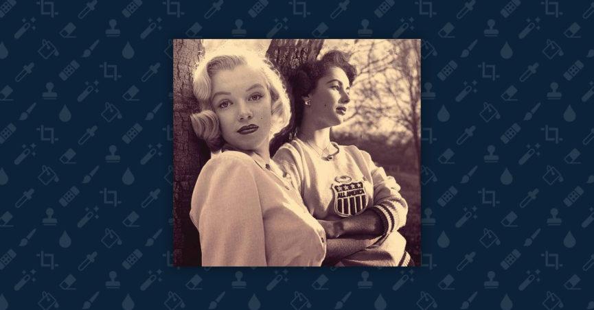 Why Elizabeth Taylor & Marilyn Monroe Bent Against a Tree?