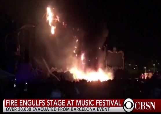 Fire at Music Festival