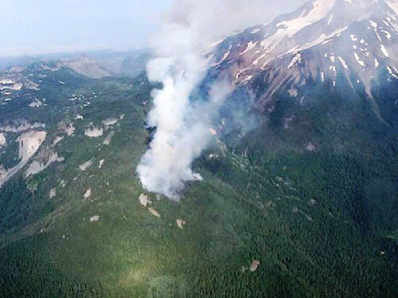 Willamette Valley under Smoke due to Wildfires in British Columbia & Mount Jefferson