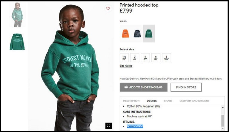 H&M Confessed for Printing Alleged Slogan on its Shirt Featuring Black Child